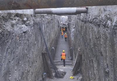 图为一环路南四段的地下施工区域